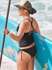 ATHLETA Cross Strap Tankini Top XS, S, M, L Black NWT Strappy Swimsuit Surf $64