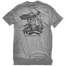 Steady Clothing rockabilly Western vintage t-shirt Howdy vaquero esqueleto gris