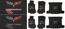 Lloyd Mats Corvette Grand Sport & C6 Flags Velourtex 3pc Ebony Mats (2010-13)