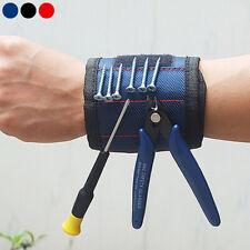 Magnetic Wristband Bag Electrician Wrist Tool Belt Screws Nail Drill Bit Holder