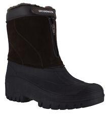 GroundWork LS88 Mens Brown Mucker Stable Yard Winter Snow Zip Up Wellies Boots