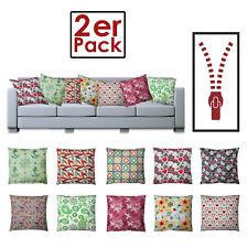 Conjunto de 2 almohada, cojín del sofá 45x45 cm, 100% algodón con relleno, v. De
