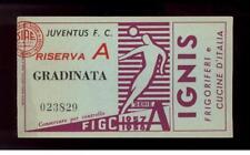 calcio football Biglietto ingresso stadio  Juventus-Genoa 1957/58
