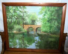 Oil Painting On Panel - Stone Bridge Over Mohoning Creek - Lorraine Troutman
