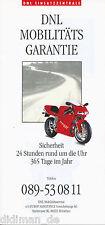 Prospekt Ducati Cagiva Mobilitätsgarantie 1994 brochure Motorrad Italien Bikes