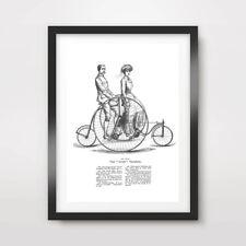 VICTORIAN BIKE ART PRINT POSTER Vintage Illustration Diagram Cycling Bicycle