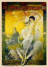Pneu Michelin Vintage Bicycle Poster Print Art Advertisement - Cycling - Bike