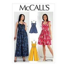 McCalls Schnittmuster M7626 Latzrock Kleid Latzhose
