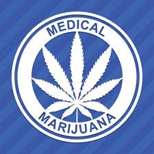 Medical Marijuana Vinyl Decal Sticker 420 Pot Leaf Weed Cannabis