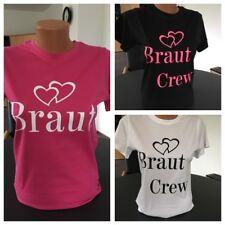 Damen Rundhals T-Shirt BRAUT - BRAUT CREW Jungesellinnenabschied JGA Feiern Girl