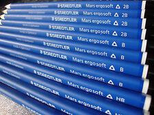 12 X Staedtler Mars ergosoft Dibujo de grafito bosquejado artistas Lápices Hb B 2b