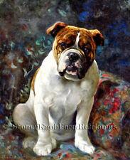 A Bulldog ~ Lilian Cheviot, Dogs ~ Cross Stitch Pattern
