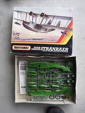 Vintage Matchbox Marine Stranraer Airplane  Model Kit MIB