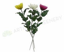 NEW Artificial Flowers/Plants F0038 Chrysanthemum Stem 53cm 3 Colours
