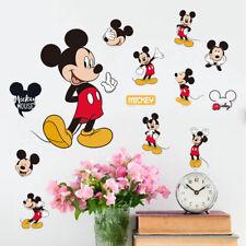 Mickey Minnie Mouse Wall Sticker PVC Mural Decal Kids Boys Girls Room Decor New