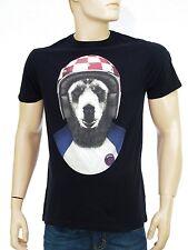 LTC by LE TEMPS DES CERISES Tee shirt Ours noir homme BIKER BEAR black