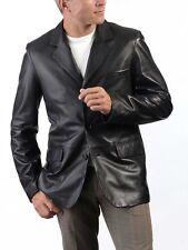New Men's Genuine Lambskin Leather Blazer Jacket Soft Slim Fit Stylish Coat