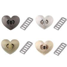 Heart Shape Clasp Turn Lock Twist Lock Metal Hardware For DIY Handbag Bag Purse