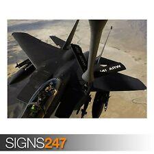 F-15E AIRCRAFT US AIR FORCE (AC202) ARMY POSTER - Poster Print Art A0 A1 A2 A3