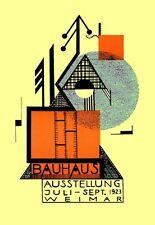 1923 Alemania Bauhaus de Weimar exposición de arte Ausstellung V. 2 A3 Cartel re impresión