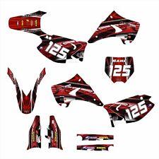 2003 2004 2005 2006 2007 2008 - 2015 KAWASAKI KX 125 250 GRAPHICS #2001 RED