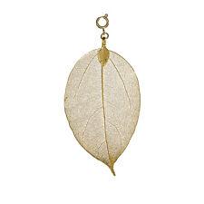 Bodhi Baum Damen Halsketten Blattanhänger in silber- oder goldfarben