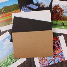 10.5x16+0.5cm Kraft Paper Postal Card Postcard Photo Packaging Box Envelope Bag