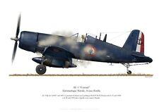 Print F4U Corsair (AU-1), Flottille 14F, Indochine, 1954 (par P. Mehard)