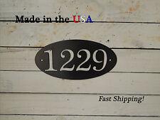 Oval Address Plaque, Trendy House Number Sign,  HN1045