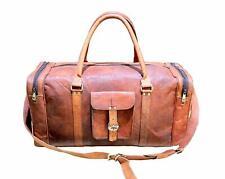 Bag tough Leather Duffle Men Gym Genuine Luggage Overnight Vintage Weekend Mens