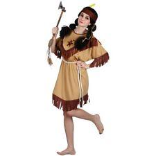 Donna Indiano Nativo Costume Costume Da Pocahontas ef2124 Cowboy UK 8-28