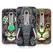 Designs Azteco HEAD CASE FACCE ANIMALI 2 Gel Custodia per Motorola Moto G (3rd Gen)