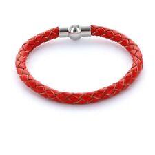 Lieblingsmensch® Armband Lederarmband 0,5cm geflochten Farbe: rot