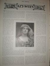 Photo article musical actor singer Lillian Eldee 1903