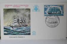 ENVELOPPE PREMIER JOUR - 1973 CINQ MATS FRANCE II