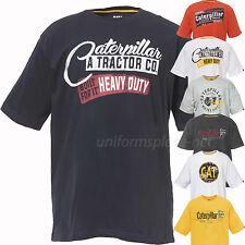 Caterpillar T shirt Mens Short Sleeve Print Graphic Tee T Shirts Cotton
