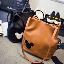 Mickey Mouse Handbag PU Leather Organizer Small Cute Bucket Bag Messenger Women