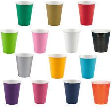 Becher 266 ml, 8 Stk. Alle Farben Einwegbecher Partybecher Pappbecher