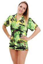 Funky Hawaiibluse  Surf  Grün  verschiedene Größen  Hawaiishirt