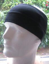 Ampio 4 pollici nero hairband Head Band Wrap Cerchietto Fascia Elastica