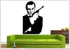 Wandtattoo wandaufkleber wandsticker photo  Porträt James Bond wph31