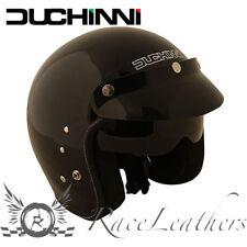 DUCHINNI D501 BLACK OPEN FACE MOTORCYCLE MOTORBIKE BIKE HELMET WITH SUN VISOR