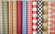 Wipe Clean Tablecloth Oilcloth Vinyl PVC Chequered Checks 140cm wide