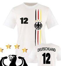 Comedy Shirts - Fußball WM 2014 - WUNSCHNAME u. NUMMER - Kinder Fan T-Shirt 2018