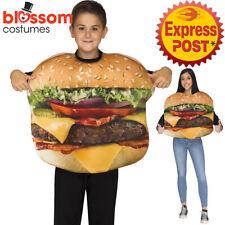 CK1295 Cheeseburger Burger Child Funny Food Hamburger Girls Boys Costume Mascot