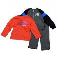 Nautica Infant Toddler Boy's 3-Piece Fleece Long Sleeve & Pant Outfit