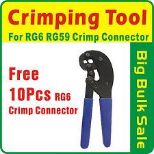 RG6 RG59 Hex Crimping Tool  Coax Cable TV Crimp Connector