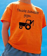 WITZIGES TAUSCHE SCHWESTER GEGEN TRAKTOR KINDER T-SHIRT!