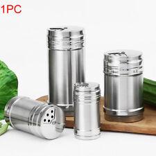 Kitchen Stainless Steel Spice Salt Pepper Shaker Jar Rotate Cruet Storage Bottle