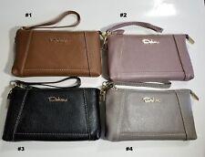 Women Deluns Genuine Soft Leather Wallets- Zipper Clutch Wristlet Wallet Purse